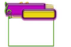 примечания рамки Стоковое Изображение RF
