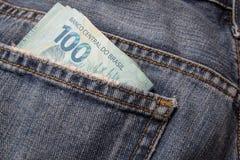 Примечания реальной, бразильской валюты деньги Бразилии Стоковое фото RF