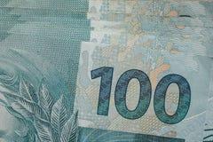 Примечания реальной, бразильской валюты деньги Бразилии Стоковая Фотография RF