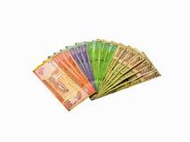 Примечания рупии валюты Sri Lankan стоковые изображения
