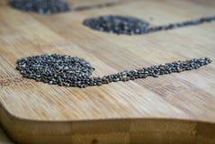 Примечания семени Chia стоковая фотография rf