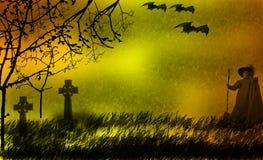примечания лунного света halloween летучей мыши предпосылки Стоковое фото RF