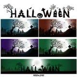 примечания лунного света halloween летучей мыши предпосылки Бесплатная Иллюстрация
