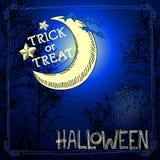 примечания лунного света halloween летучей мыши предпосылки Стоковые Фото
