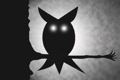 примечания лунного света halloween летучей мыши предпосылки Стоковое Изображение