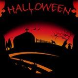 примечания лунного света halloween летучей мыши предпосылки Стоковые Фотографии RF