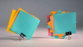 Примечания чистого листа бумаги. Стоковая Фотография RF