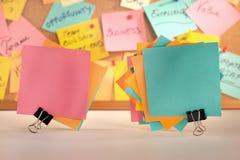 Примечания чистого листа бумаги. Стоковые Фото