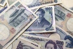 Примечания японских иен Стоковая Фотография