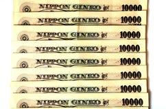 Примечания японских иен Стоковое Изображение
