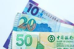 примечания Hong Kong доллара банка Стоковые Фотографии RF