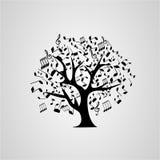 Примечания whith дерева Стоковые Фото