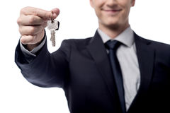 Примите ваш новый домашний ключ! Стоковое фото RF