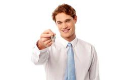 Примите ваш новый домашний ключ Стоковая Фотография RF