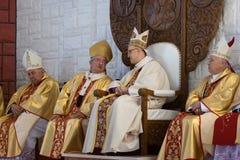 Примите глубокое дыхание как кардинальный епископ. стоковые изображения