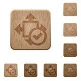 Примите кнопки размера деревянные Стоковая Фотография RF