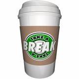 Примите кофейную чашку пролома ослабьте остатки иллюстрация вектора