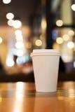 Примите отсутствующий космос экземпляра кофейной чашки пустой пустой для вашего текста дизайна Стоковое Изображение
