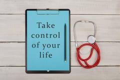 Примите управление вашей жизни! стоковое фото