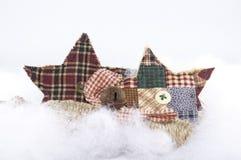Примитивные орнаменты рождества Стоковая Фотография RF