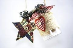 Примитивные орнаменты рождества Стоковая Фотография