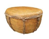 Примитивный изолированный барабанчик руки. стоковые изображения