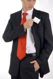 принимать визитной карточки карманный Стоковое Изображение RF