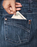 принимать дег руки карманный Стоковое Фото