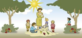 принимать детей внимательности Стоковое Изображение RF