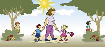 принимать детей внимательности Стоковые Фотографии RF