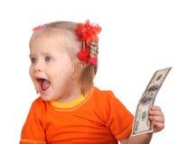 принимать доллара кредитки младенца Стоковое Изображение RF