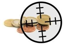 принимать евро цели Стоковые Фотографии RF