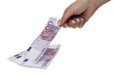 Принимать деньги Стоковые Изображения RF