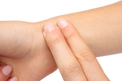принимать ИМПа ульс руки Стоковое Изображение RF