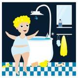 принимать мальчика ванны 10 eps Стоковая Фотография RF