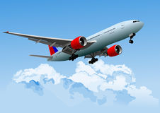 Принимать самолета  Стоковое Изображение