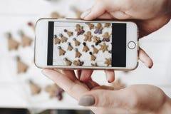 Принимать фото еды домодельных традиционных помадок праздника стоковая фотография