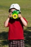 принимать фото ребенка Стоковые Изображения