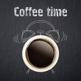 принимать человека принципиальной схемы кофе пролома Стоковая Фотография RF