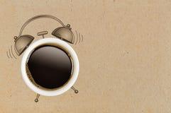 принимать человека принципиальной схемы кофе пролома Стоковые Фото