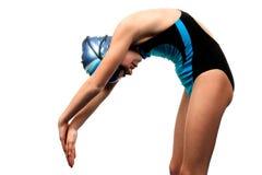 принимать swimsuit девушки пикирования стоковое изображение