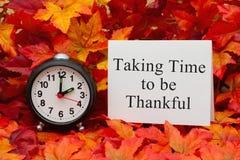 Принимающ время быть благодарный Стоковые Изображения