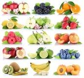 Приносить col клубники банана апельсинов яблок ягод яблока оранжевый Стоковые Изображения RF