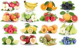 Приносить fru клубники банана апельсинов яблок ягод яблока оранжевый Стоковые Фотографии RF