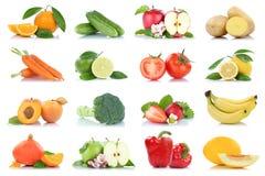 Приносить orang яблока много фруктов и овощей изолированное собранием Стоковая Фотография RF