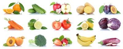 Приносить orang яблока много фруктов и овощей изолированное собранием Стоковое Фото