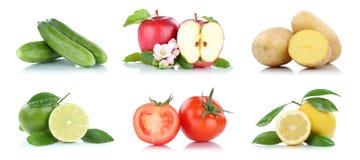 Приносить tomat яблока много фруктов и овощей изолированное собранием Стоковое Фото