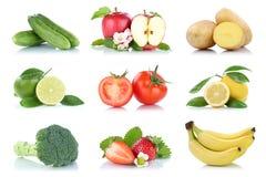 Приносить tomat яблока много фруктов и овощей изолированное собранием Стоковые Изображения RF