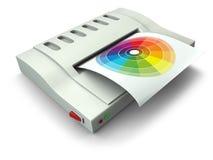 принтер компьютера родовой иллюстрация вектора