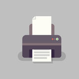 Принтер офиса в плоском stile Стоковые Изображения RF